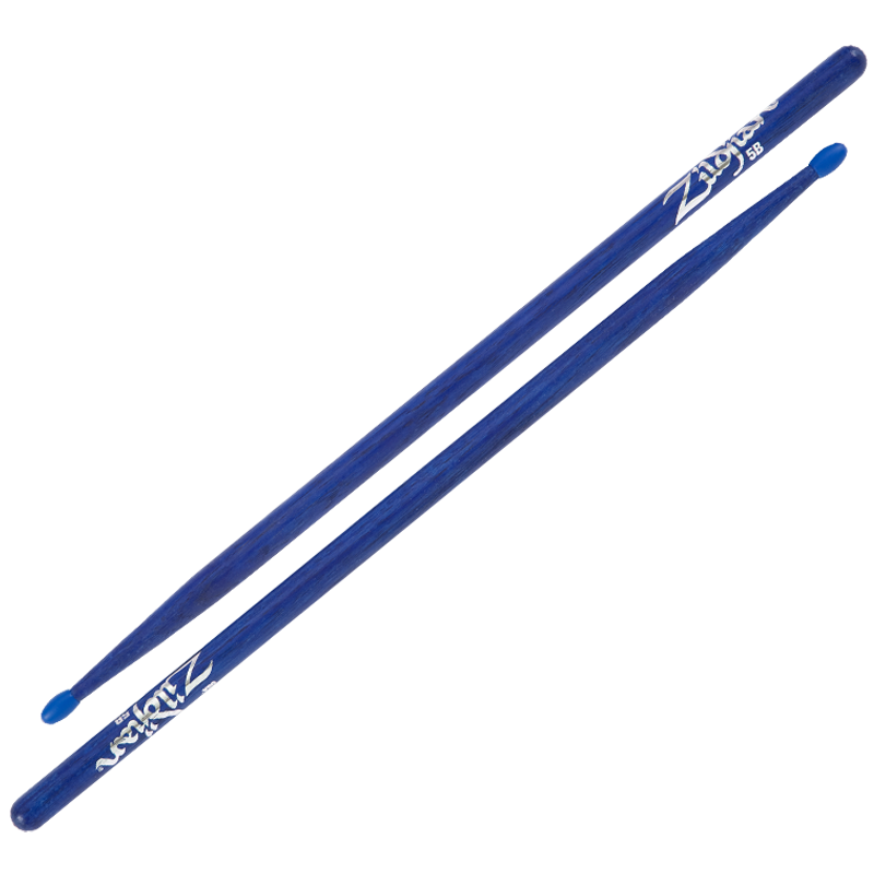 5B NYLON BLUE DRUMSTICKS 6 PAIR