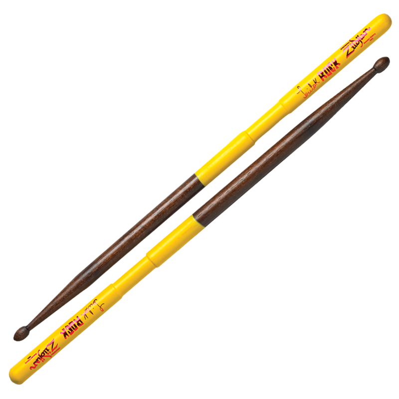 TRILOK GURTU ROCK DRUMSTICKS WOOD WALNUT DIP 6 PAIR