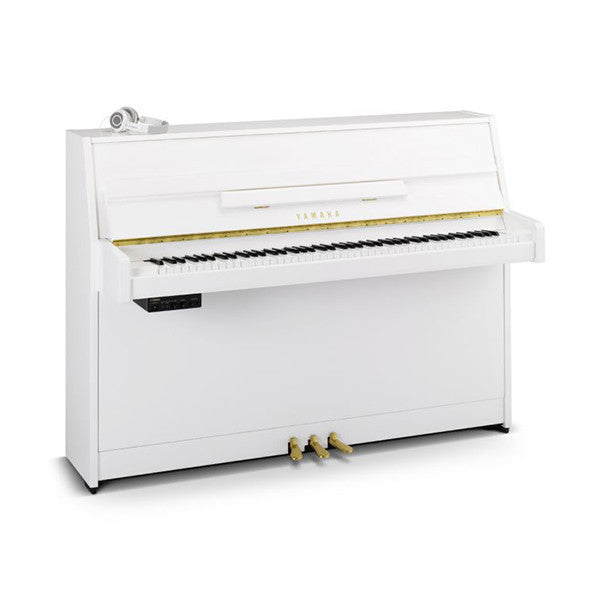 Yamaha B1 SG2 Silent Piano in Polished White