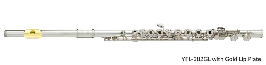 Yamaha YFL282GL Flute Outfit with Ring Keys and Gold Lip Plate