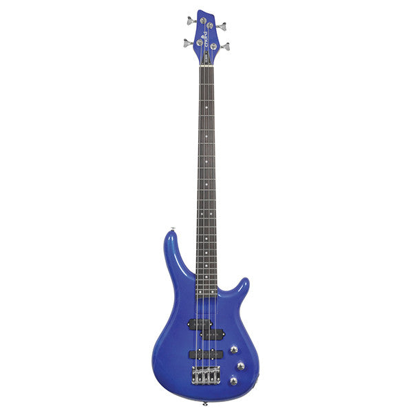 Chord CCB90 Bass Guitar in Metallic Blue