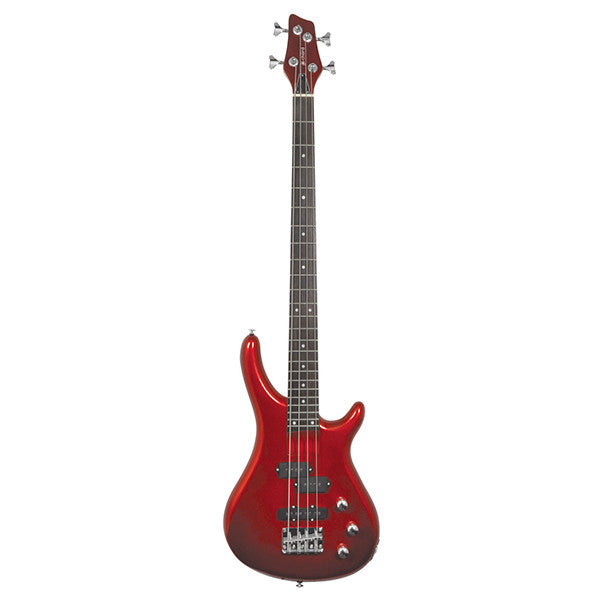 Chord CCB90 Bass Guitar in Metallic Red