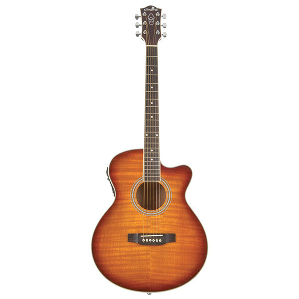 Chord CMJ4CE Electro-Acoustic Guitar in Honeyburst