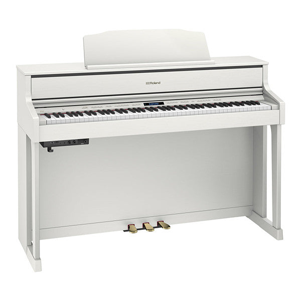 Roland HP605 Digital Piano in White