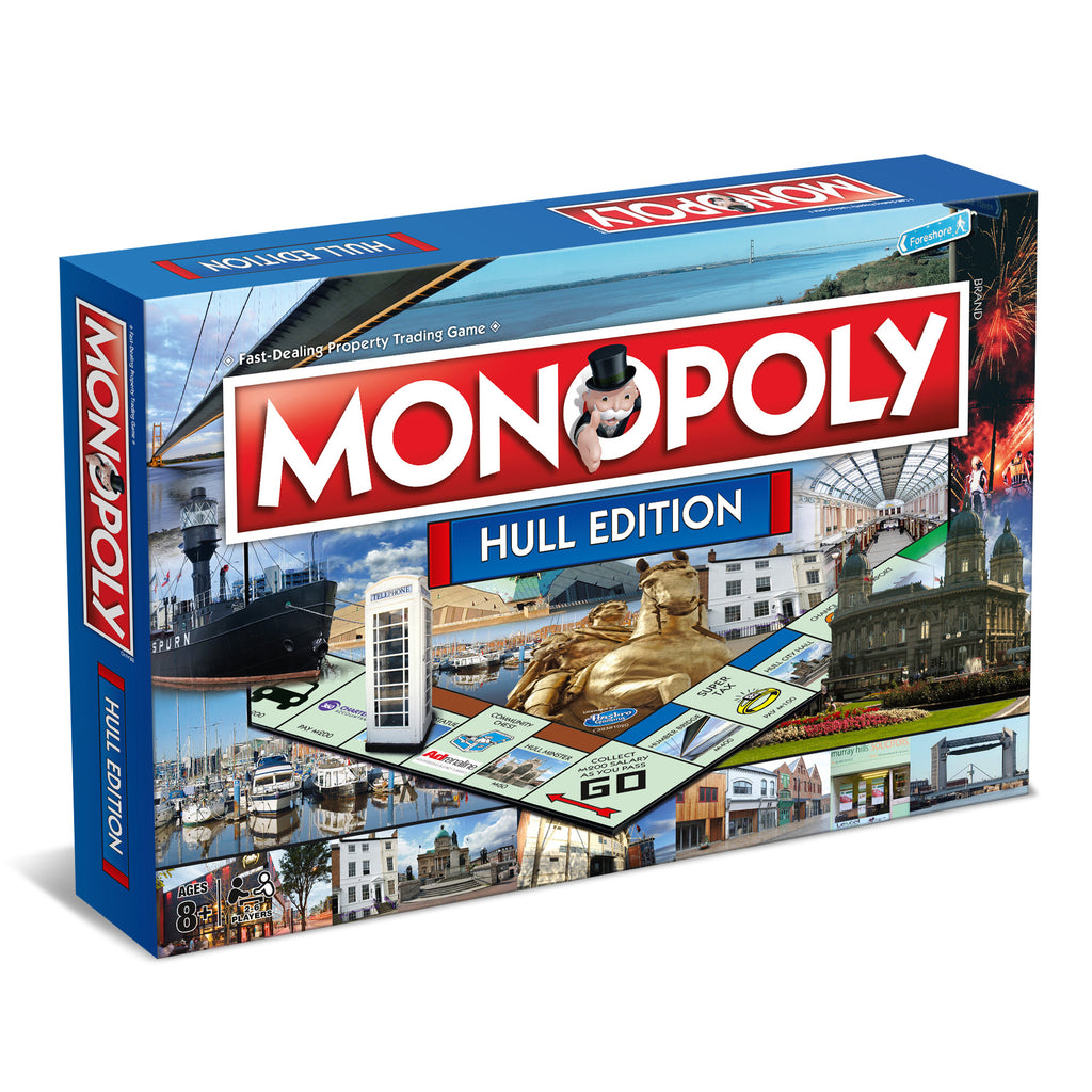 Monopoly Board Game - Hull Edition Featuring Gough and Davy!