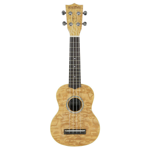 Chord Native Soprano Curly Ash Ukulele