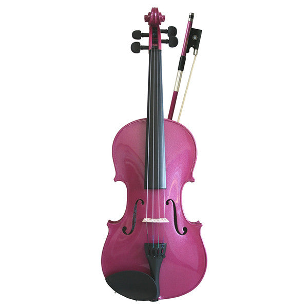 Soundpost Rainbow Fantasia Violin Outfit in Pink