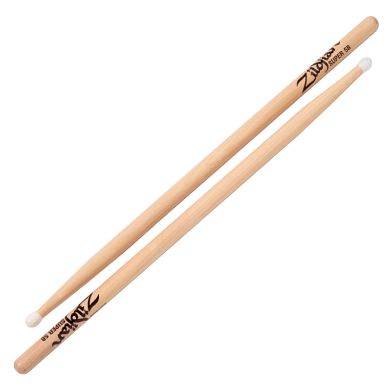 SUPER 5B NYLON NATURAL DRUMSTICKS 6 PAIR