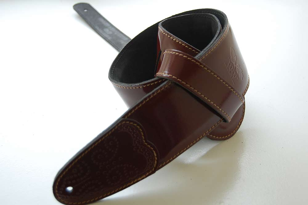 Whitestone and Willow Oxblood Elite Leather Guitar Strap