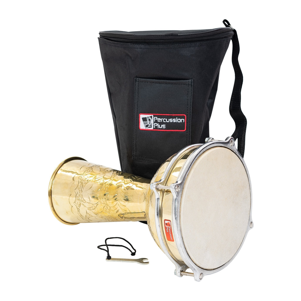 Percussion Plus brass doumbek 8""