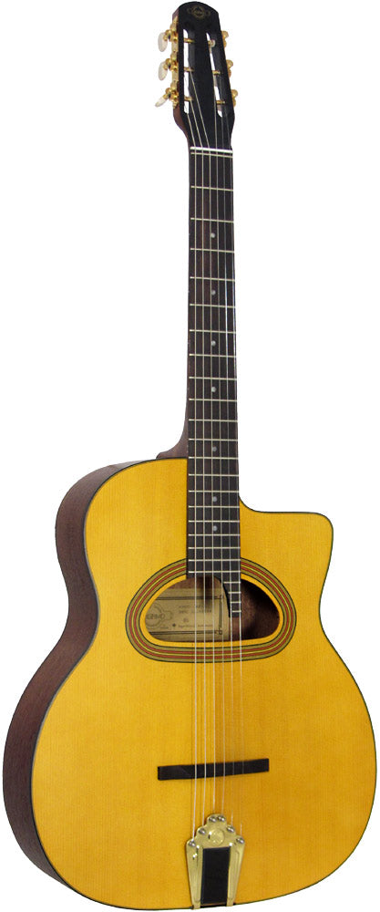 Gitane GJ5 Gypsy Jazz Cigano Guitar With D-Hole in Natural
