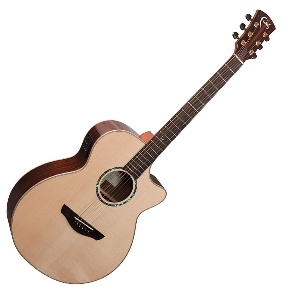 Faith Venus Percussive Cutaway Electro Acoustic, Hi Gloss Natural