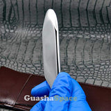 GuashaSpace Medical Grade Stainless Steel Soft Tissue Physical Therapy Chiropractic Sports Injuries Therapy Gua Sha Tool Guasha Scraping Tool (ST004V Type)