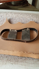 Sandal template on leather