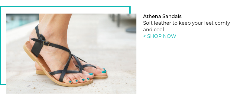Athena sandals in Black leather