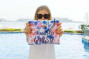Island Gangsta bag for the beach pool travel or makeup