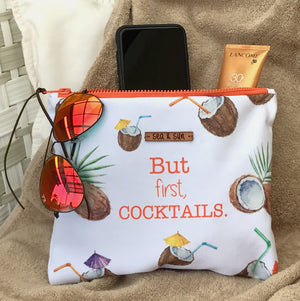Cocktails and Coconuts multipurpose bag with waterproof lining