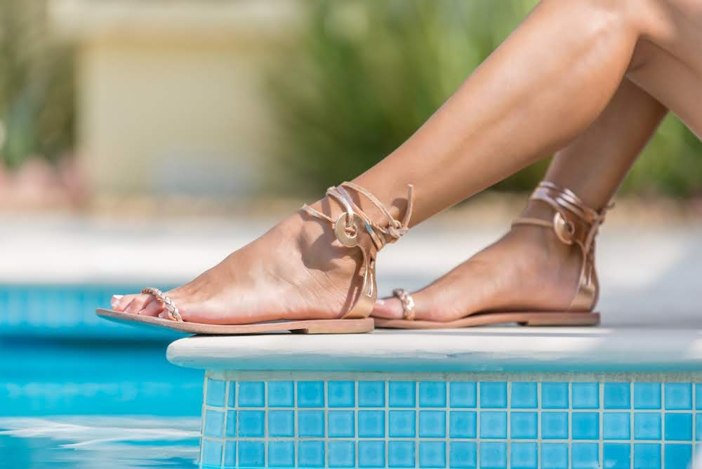 Delphi sandals in Rose Gold leather - Kardia