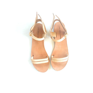 Ermes winged sandals in nude leather straps