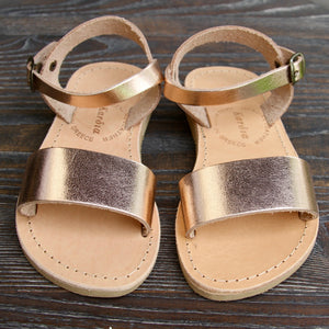 Mini Zena girls sandals in Rose Gold leather