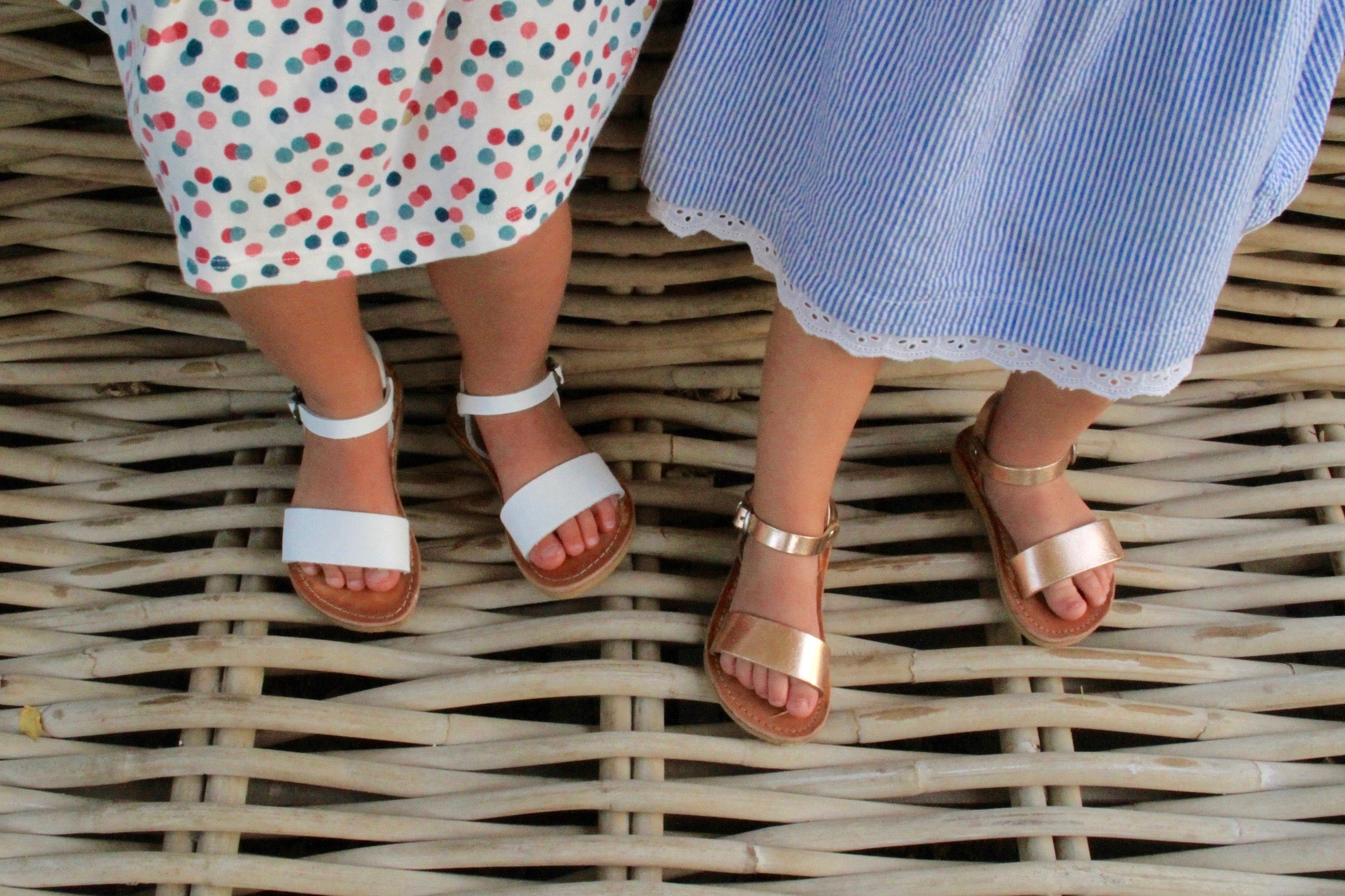 Mini Zena girls summer sandals in Rose Gold