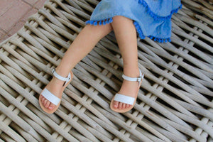 Mini Zena girls sandals in White - Kardia
