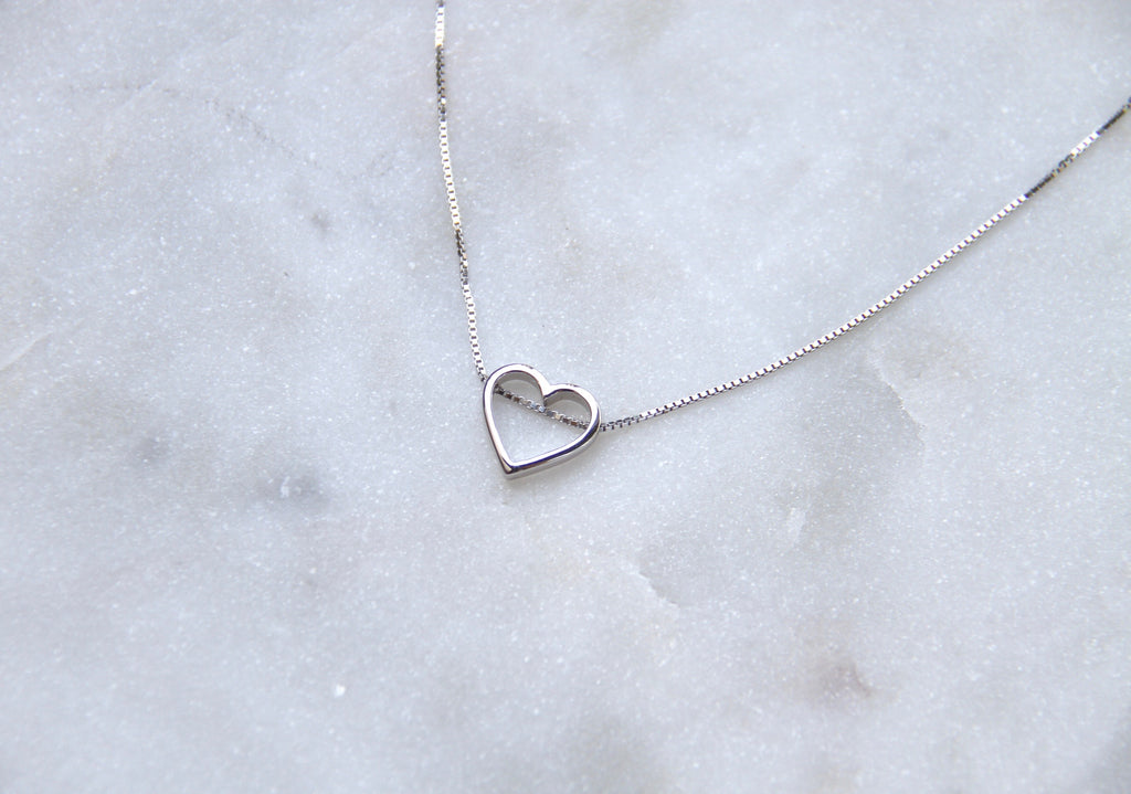 Heart Pendant Necklace in 925 Silver - Kardia