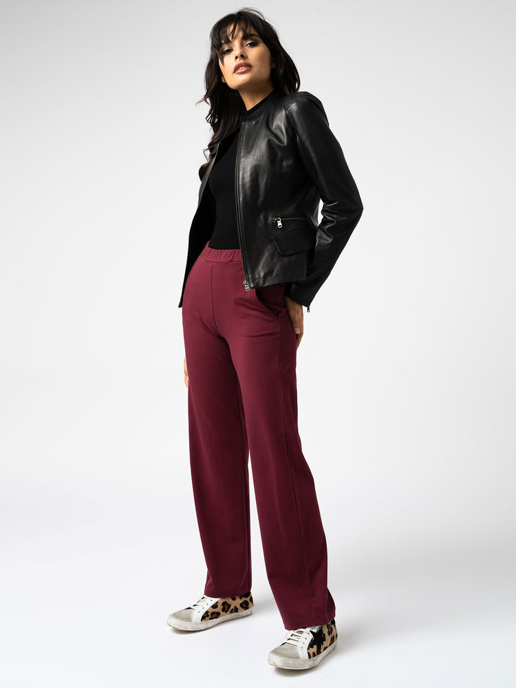 Apartment Pant in Burgundy
