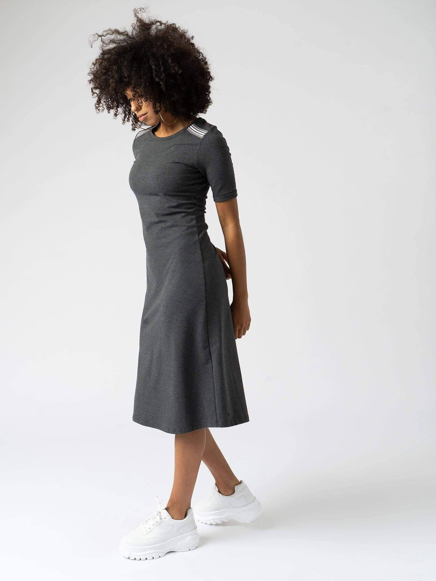 The Runway Dress - Charcoal