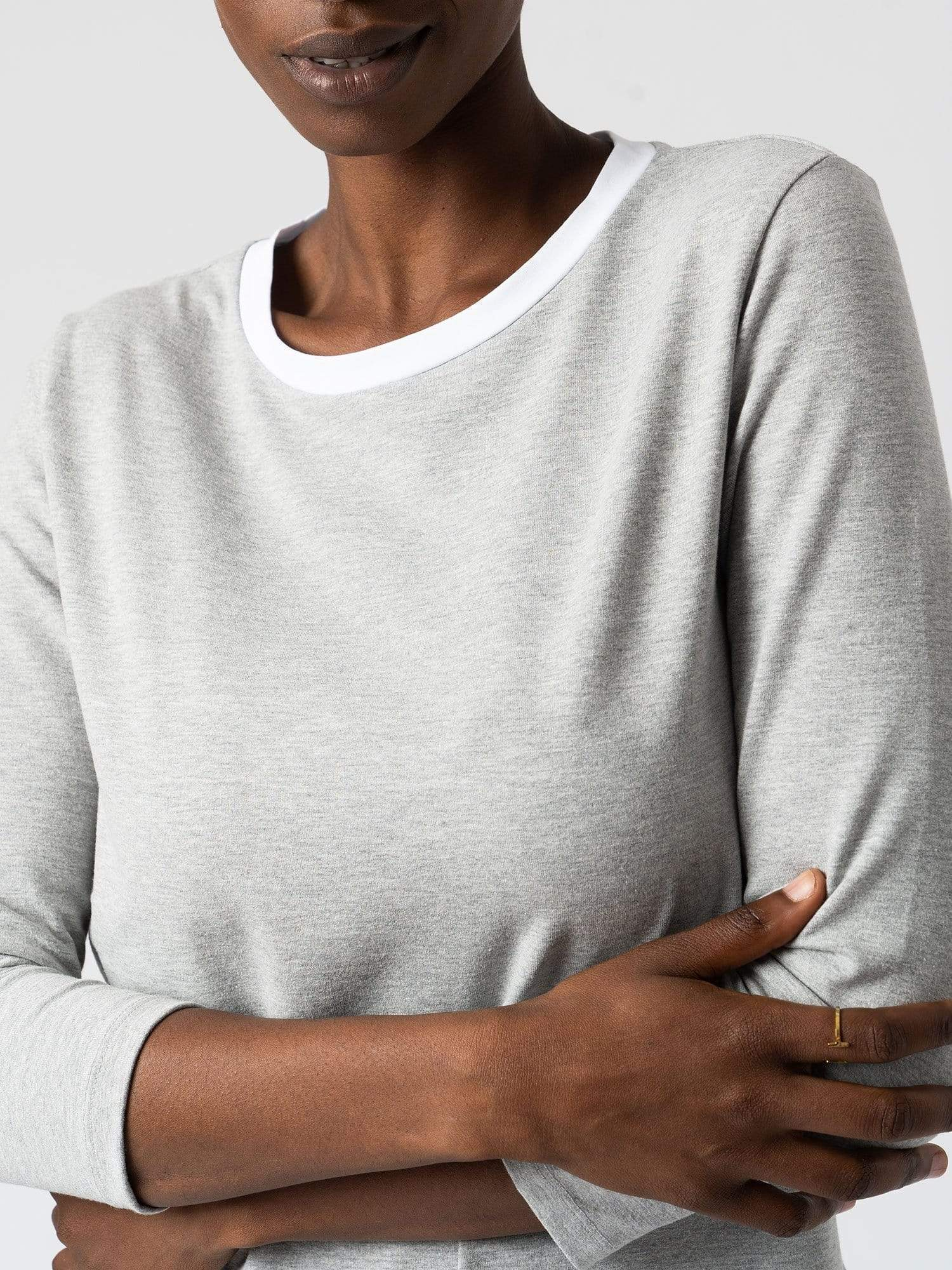 Zaggora Sweater Contrast Cotton Sweater - Grey