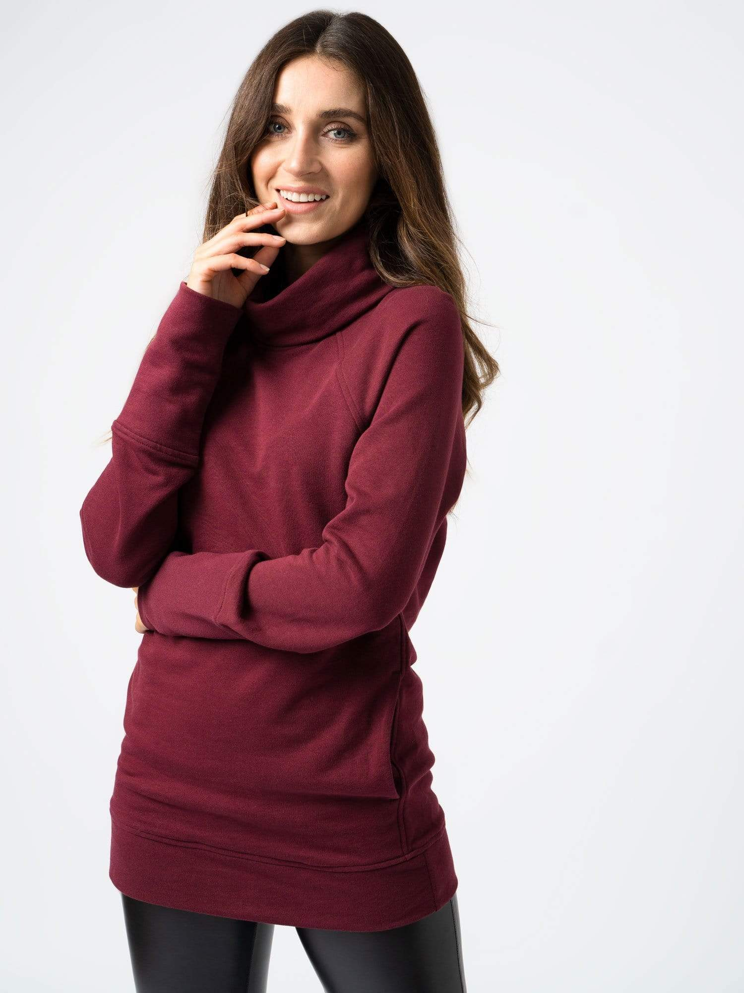 Roll Neck Burgundy
