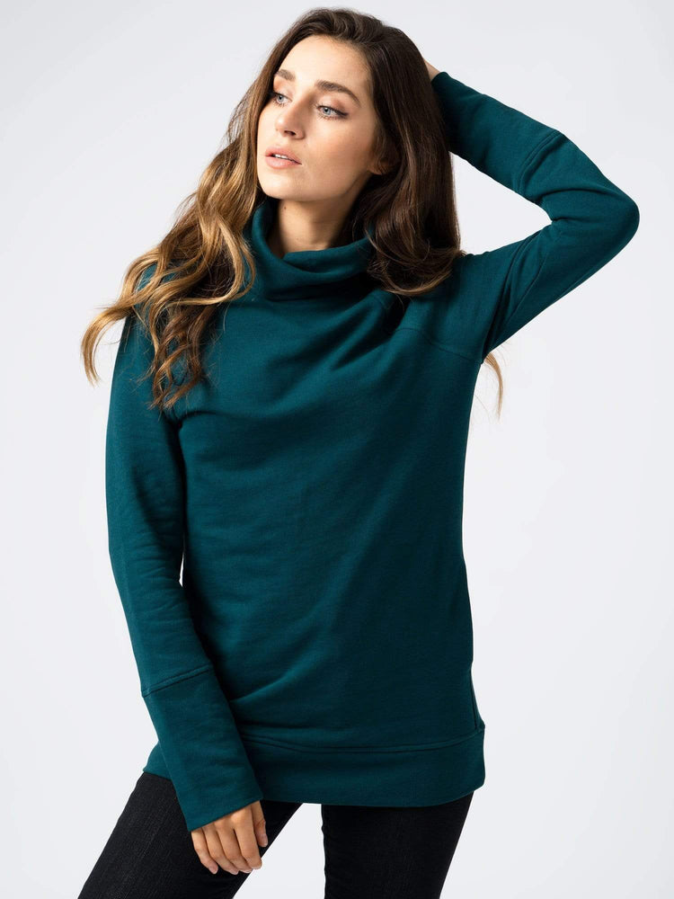 Sweater Roll Neck Teal Green