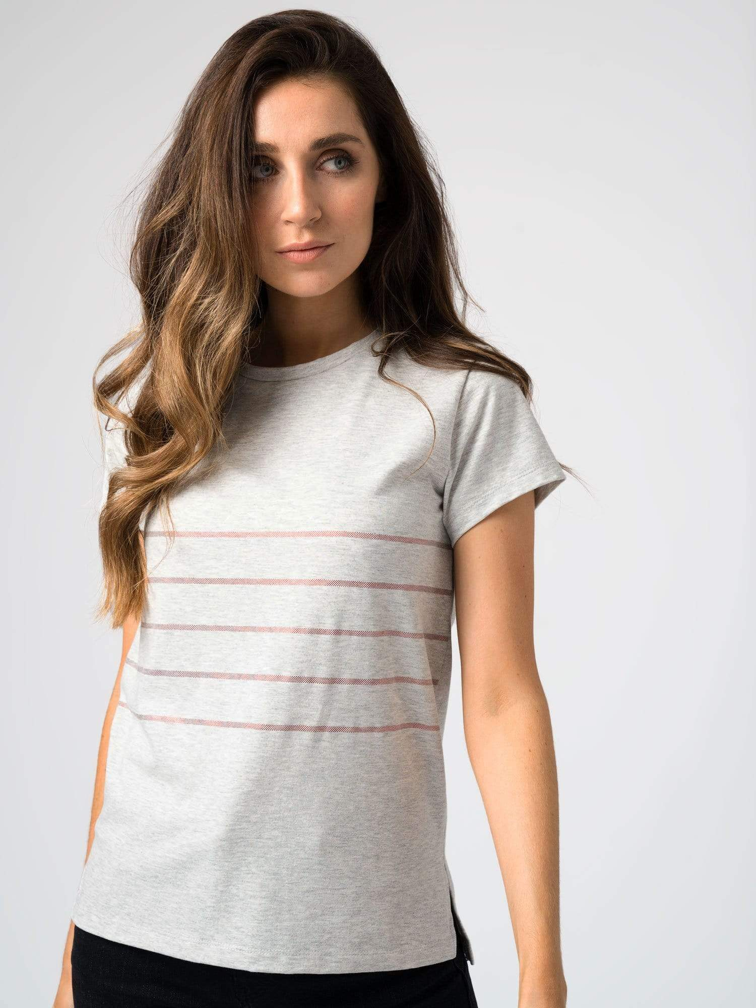 Easy Tee Stripe Gray
