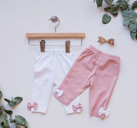 Organic Cotton Bow Leggings