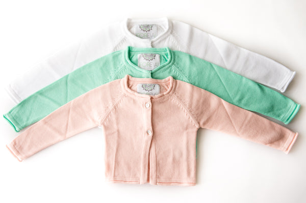 Cotton/Cashmere Girls Cardigans