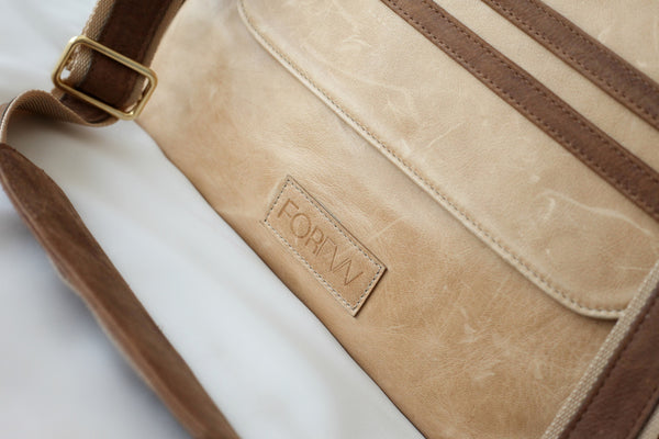 Valentina Diaper Bag - Hazelnut Two Tone