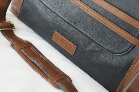 Valentina Diaper Bag - Black & Kudu Rust