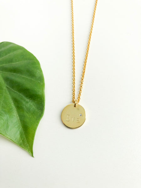 Classic Round Disc Necklace