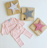 Luxury 2 piece Star Detail knit set