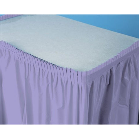 14 ft Plastic Tableskirt Luscious Lavender/Case of 6