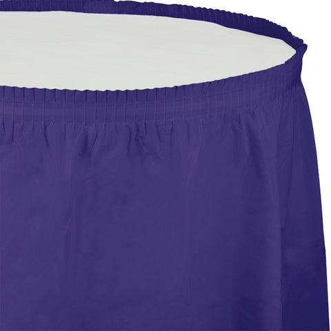 14 ft Plastic Tableskirt Purple/Case of 6