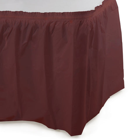 14 ft Plastic Tableskirt Chocolate Brown/Case of 6
