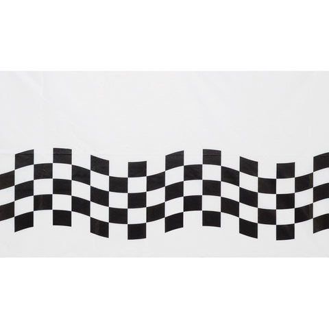 54 x 102 Paper Tablecover Black/White Check/Case of 12