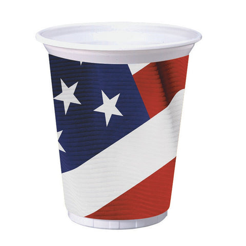 16 oz Printed Plastic Cups American Valor/Case of 96