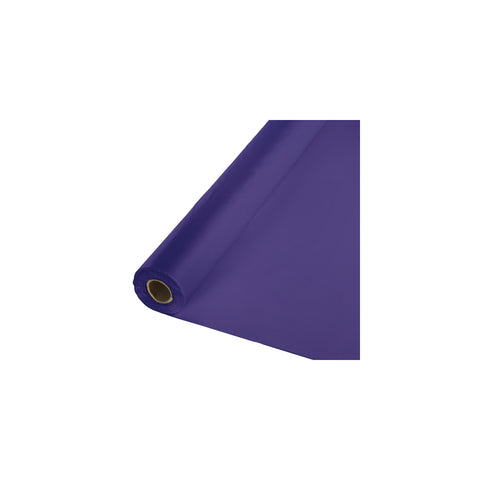 250 Feet Purple Plastic Tablecover Banquet Roll