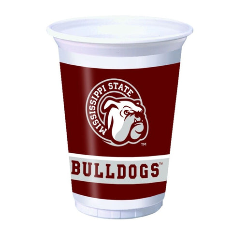 20 oz Printed Plastic Cups Mississippi State Univ/Case of 96