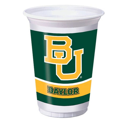 Collegiate 20 Oz Plastic Cups Baylor University/Case of 96