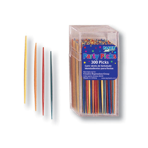 2.75 inch Thin Picks Party Assorted Color/Case of 3600