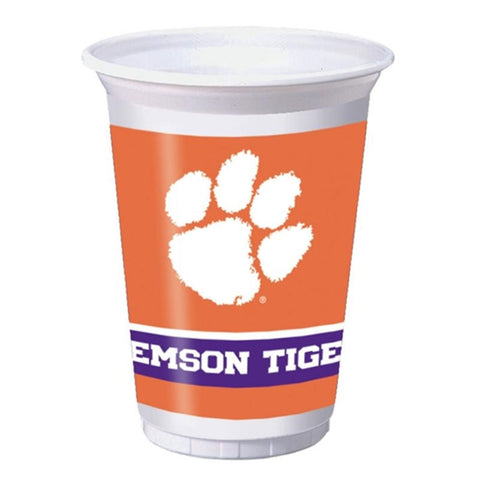 20 oz Printed Plastic Cups Clemson Univ/Case of 96