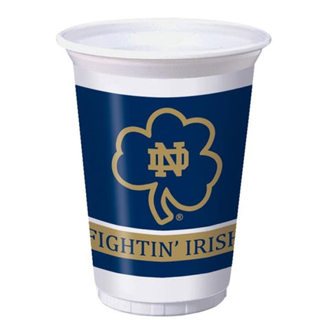 20 oz Printed Plastic Cups Univ of Notre Dame/Case of 96